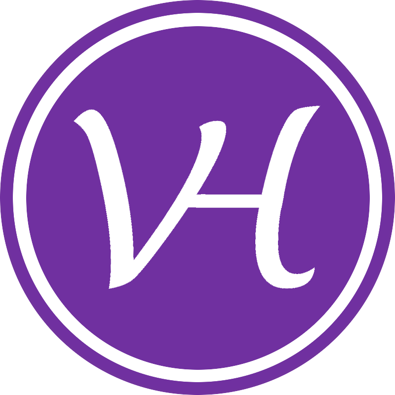 Logo VH paars circel 1 grijze rand
